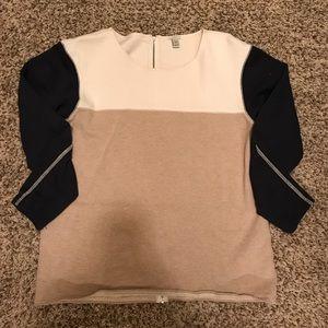 J.Crew color block sweater.